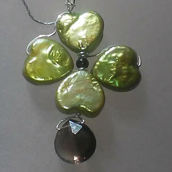 638212c0085ac Shamrock Four Leaf Clover Pendant Sterling Silver Boutique
